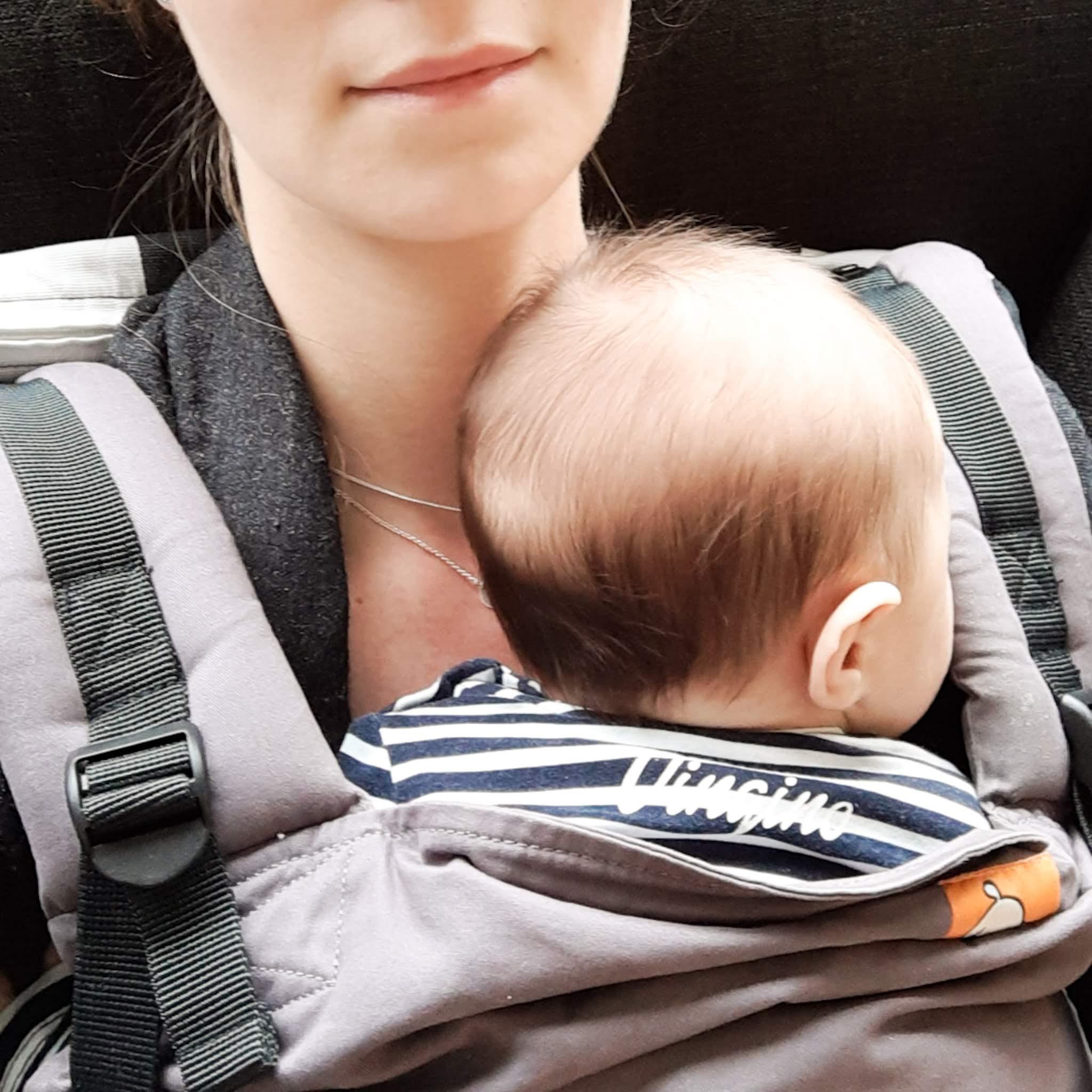 Baby dragen – baby week 10